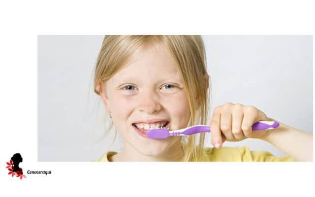 como blanquear los dientes amarillos de niños