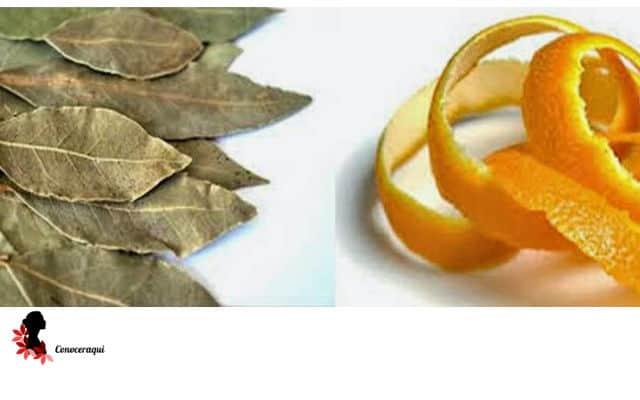 hojas de laurel y cascaras de naranja para blanquear los dientes