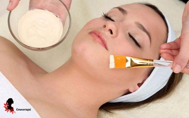 crema de yogurt para la piel reseca