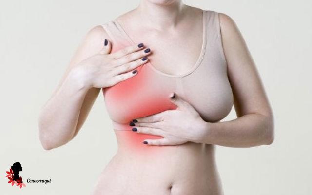 dolor en un seno izquierdo