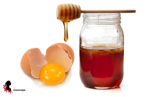 miel de abeja y huevo