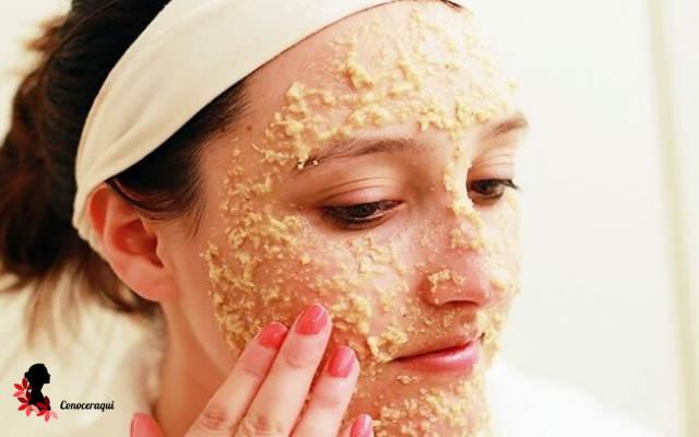 mascarilla de avena yogurt y limon para exfoliar la piel grasa de la cara
