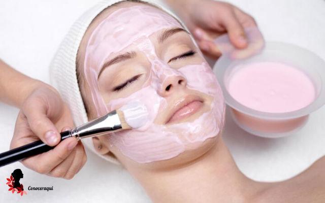 mascarilla de yogurt para arrugas en la piel del rostro