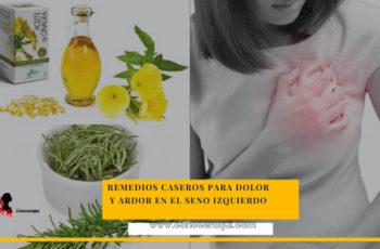 remedios caseros para dolor de seno izquierdo