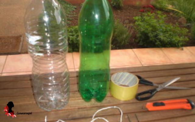 trampa de botellas de plastico para eliminar moscas